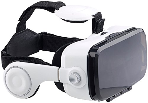 auvisio VR Brille: Virtual-Reality-Brille mit integrierten Kopfhörern, 3D-Justierung (VR Brille mit Kopfhörer)