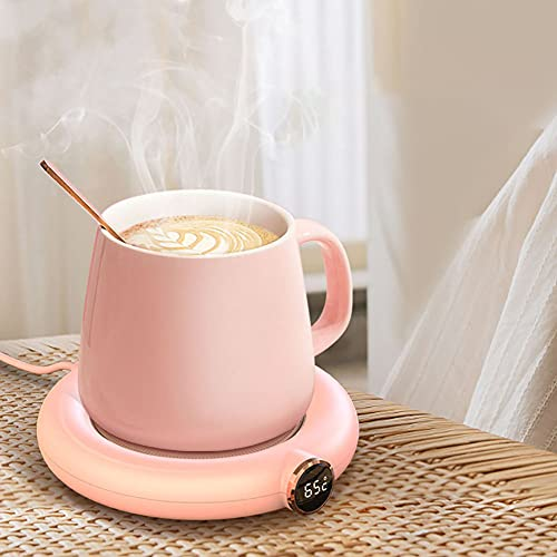 UQEGO Verbeterde Slimme Flessenwarmer met USB Opladen Leuke Design Touch Control Koffiekopje Warmer met Mok voor Koffie…