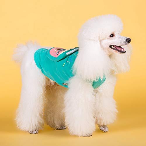 YXBNB Tierkleidung Baumwolle Hundekleidung Sweet Puppy Pet Kleidung Chihuahua Pet Shirt Hundekleidung Bulldog Dog Coat Jacke Pour le Chien Haustier Kleidung Mops Blue-S