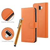 VA For Samsung Galaxy J6 Plus Phone Case Leather Magnetic
