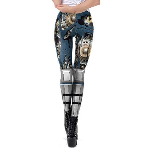 JSR-Hoodie Entrenamiento de la Mujer Punky Retro Leggings Leggins Aptitud...