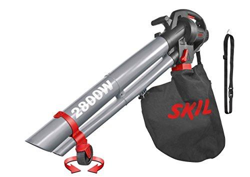 Skil Laubbläser / Laubsauger (2800 W, mit Fangsack 45 l, mit Häckselfunktion, Luftstrom 270 km/h, Gartengerät) F0150792AA