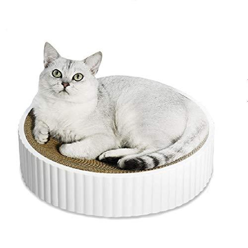 CATISM Kratzbrett für Katzen Rund Kratzmatte Kratzpappe für Katze Wellpappe Kratzpads Kratzbretter Auf beiden Seiten Verfügbar Kratzmöbel Kratzpads