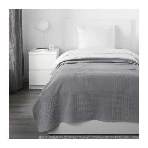 INDIRA IKEA Tagesdecke in grau; 100% Baumwolle; (150x250cm)