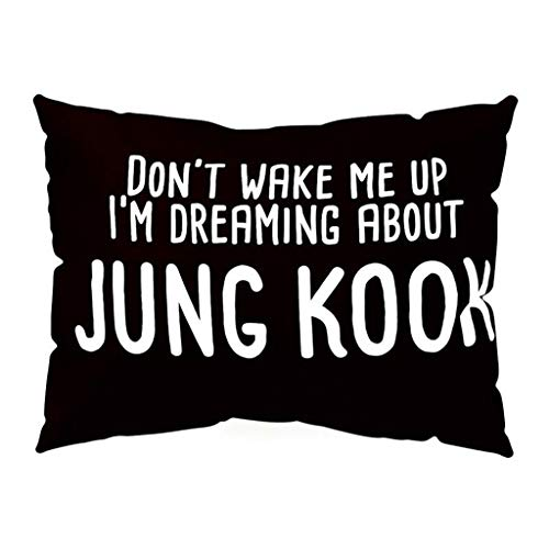 AIni Funda De Almohada BTS,Alfabeto Ingles Decoracion del Hogar Funda De Cojin para Sofa,50x30cm Decoracion Cojin Fundas De Almohada,Sofa Cojin Korean Boy Band Rectangle Pillowcase