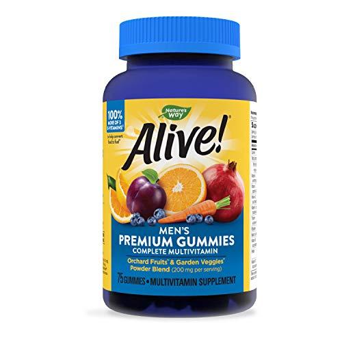 Nature's Way Alive! Men's Premium Gummy Multivitamin, Full B Vitamin Complex, 75 Gummies