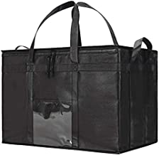 NZ Home Food Delivery Bag, Insulated Reusable Grocery Bag | Ideal for Uber Eats, Instacart, Doordash, Grubhub, Postmates, Restaurant, Catering, Grocery Transport | Dual Zipper (XXXL 1 Pack)