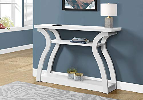 Monarch Specialties I CONSOLE TABLE, WHITE