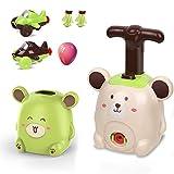 ISAKEN Automóviles con globo para niños, coche con globo, automovilismo aerodinámico, juguete lanzador de coche, juguete con bomba