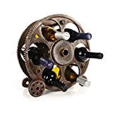 Foster & Rye Gears Countertop Rack and Wine Bottle Holder, 13.5', Bronze