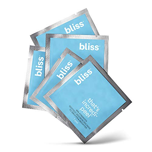 Bliss - Thats Incredi-peel Glycolic Resurfacing Pads |Single-Step Pads for Exfoliating & Brightening| Vegan | Fragrance Free | Cruelty Free | Paraben Free | 5 ct.