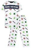 MINECRAFT Schlafanzug (kurzärmelig) Gr. 146, grau