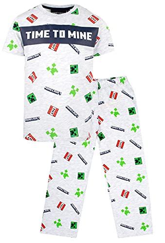 Minecraft - Minecraft - Pijama de manga corta para niños, diseño de Minecraft Minecraft con Minecraft Creeper - Ropa Minecraft Minecraft - Regalos de cumpleaños de Minecraft - Edad 5-6 años