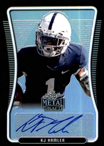2020 Leaf Metal Draft Portrait Autograph Rainbow Black #BAP-KH2 KJ Hamler RC Rookie AUTO 9/15 Football Trading Card