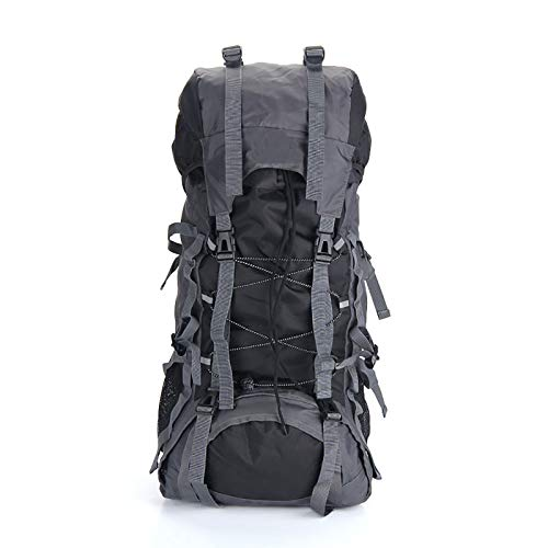 LILINA Waterproof Backpacks Hiking Water Resistant Lightweight Bag 80l Large-capacity with Belt Bag, Multiple Colors to Choose for Travel Camping Outdoor,Black