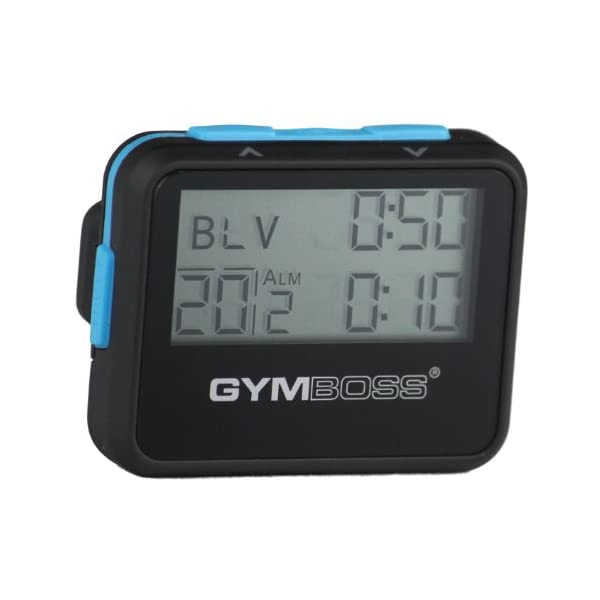 Gymboss Interval Timer and Stopwatch – Black/Blue SOFTCOAT