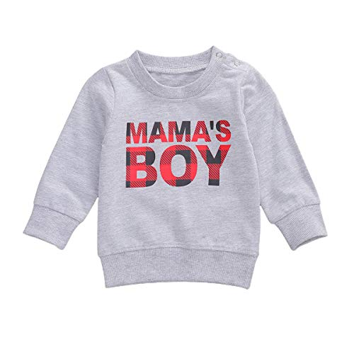 Infant Baby Girl Mamas Girl Pullover Sweatshirt Top Letters Print Crewneck Long Sleeve T Shirt Blouse Fall Clothes
