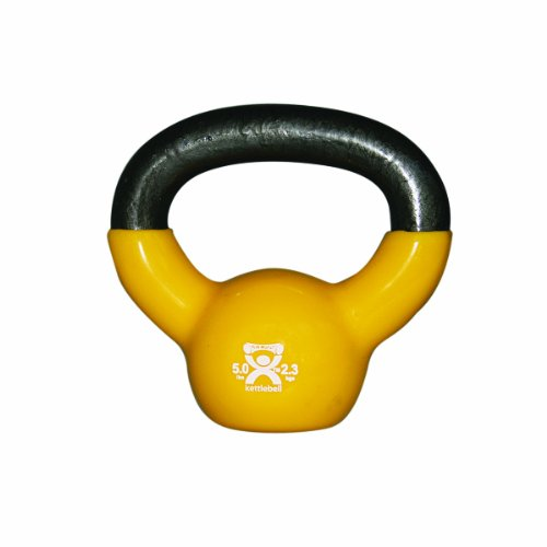CanDo Vinyl-Coated Kettlebell, Green, 10 Pound