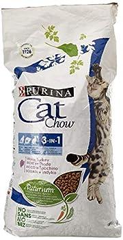Purina Cat Chow–Nourriture sèche pour Chats Adultes, 3en 1, Rica en Paon