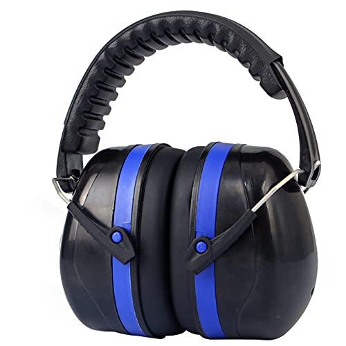 Protección auditiva Cascos Ruido Orejeras de Protección 35dB SNR Compacto y Plegable Protectores Auditivos Ruido ProteccióN Auditiva Laboral para Caza Disparo Estudiar,Blue