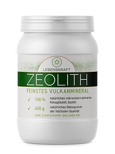 J.Fée Zeolith-Pulver von Lebenskraft 400g Dose, Zeolith-Klinoptilolith aus feinstem Vulkangestein ultrafein & aktiviert, Zeolith aus 100% reinen Mineralien