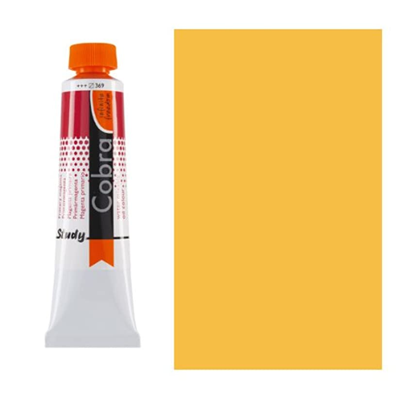 Royal Talens Cobra Artists' Water Mixable Oil Color, 40ml Tube, Permanent Yellow Medium (25052840)