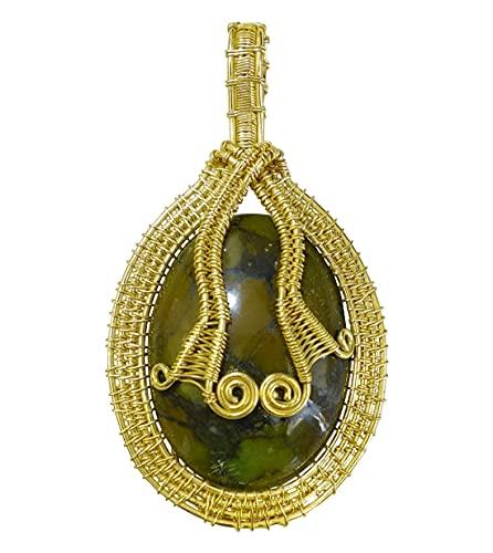 Real Turquesa Piedra Preciosa Chapado En Oro Diseñador Colgante Para Mujeres Y Hombres, Auténtica Hecha A Mano Joyería De Moda, Fiesta Colgante De Collar