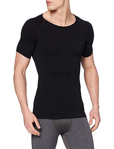 FALKE Herren, Kurzarmshirt Warm Short Sleeve Close Fit Funktionsfaser, 1 er Pack, Schwarz (Black 3000), Größe: M