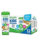 Orgain Organic Kids Protein Nutritional Shake, Vanilla - Great for Breakfast & Snacks, 22 Vitamins & Minerals, Fruits & Vegetables, Gluten Free, Soy Free, 8.25 Oz, 12 Count (Packaging May Vary)