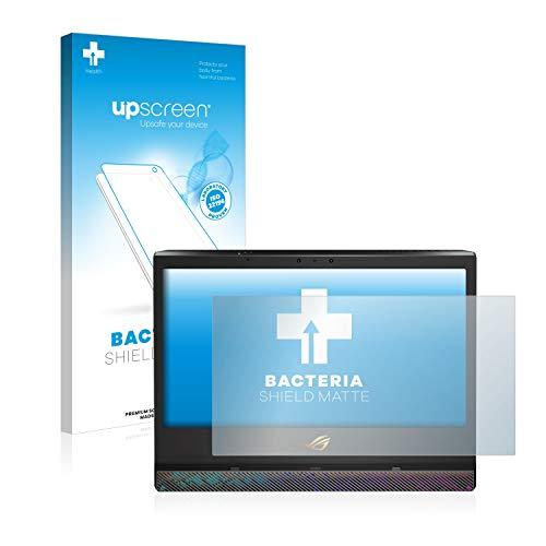 upscreen Antibakterielle Entspiegelungs-Schutzfolie kompatibel mit Asus ROG Mothership - Anti-Reflex Bildschirmschutzfolie matt, Anti-Fingerprint