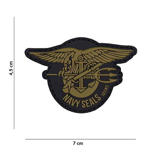 Van Os Emblem 3D PVC Navy Seals Klett Patch Abzeichen Aufnäher grün