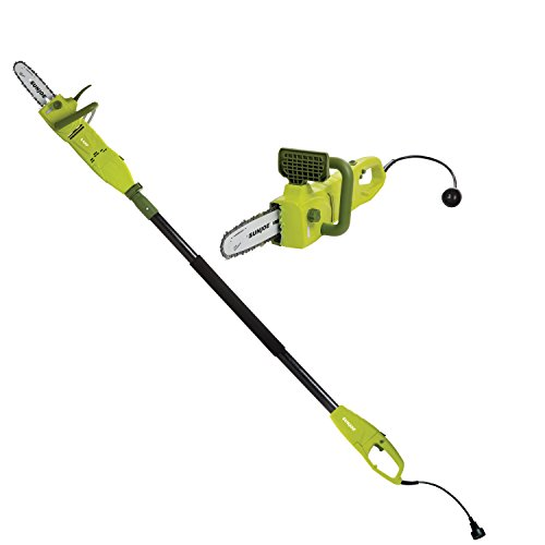 Our #4 Pick is the Sun Joe SWJ806E 8-Inch 8.0 Amp 2-in-1 Convertible Pole Saw