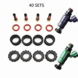 Filtros de aceite de reemplazo automotriz y acceso 40 sets Kit de reparación de inyector de combustible Kits de servicio para 1999 FP 1.8 Set de inyector de protege 2.0 (AY-RK022) Para motor diesel y