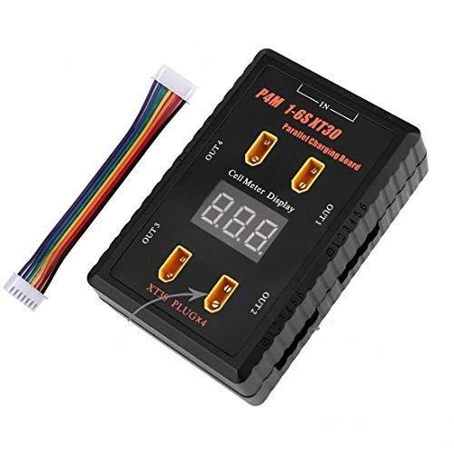 ZHITING 1-6S XT30 Parallel Charging Board Balance-Ladeplatte für 1S-6S LiPo-Akkus mit XT60-Verbindungskabel und 6S Balance-Kabel