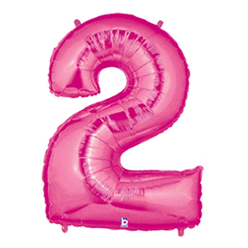 Pink # 2 Large Shaped Megaloons 40' Mylar Balloon