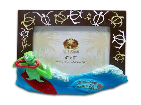 Honu Surfer Picture Frame 4' X 6' by KC HAWAII