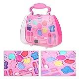 Simlug Kid Beauty Makeup Toy, cosméticos para niños Set de Juguetes Bolsa de Maquillaje con Anillo de plástico para Ojos Niñas Play House Toys para Satisfacer Princess's Girl Dream(Makeup Toy)
