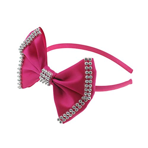 ADKY2 pcs enfants à la main Big Bow Stick Drill Party Tiara jour de Noël cheveux Accessoires Boucle De Tête