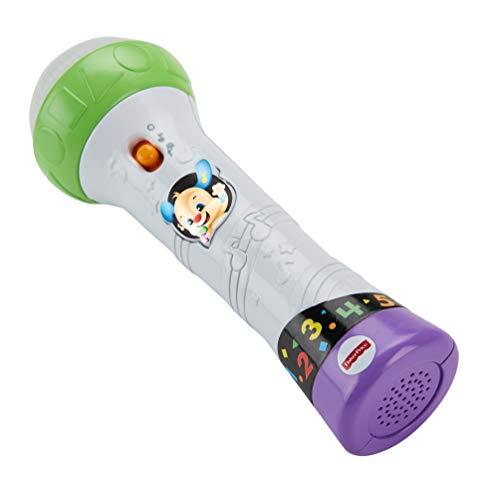 Fisher-Price Microfono Baby Rock, Giocattolo per Imparare Cantando con 2 modalità di Gioco, per Bambini 18 + Mesi, FBP33