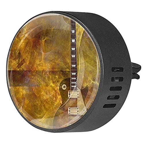 Difusor de coche para clips de ventilación de aceite esencial,Ardor en guitarra eléctrica ,2 paquetes de ambientadores de aromaterapia de 40 mm