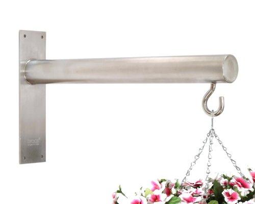 Braax Hangtec Cylinder HT-1A09 - Zeitgenössische edelstahl hängekorb halterung / wandhalter für blumenampeln