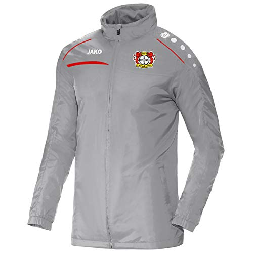 JAKO Prestige (ohne Sponsoren), (Saison 19/20), Bayer 04 Leverkusen-Giacca per Tutte Le Stagioni Bambini, Grigio, 164