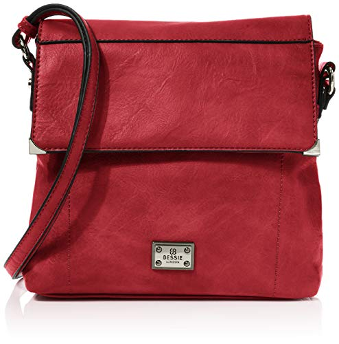 Bessie London Damen Crossbody-Umhängetasche, Rot, One Size