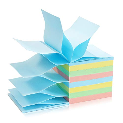 8 Pads Pop Up Sticky Notes 3x3 Refills Pastel Colors Self-Stick Notes Pads Super Adhesive Sticky Notes Great Value Pack