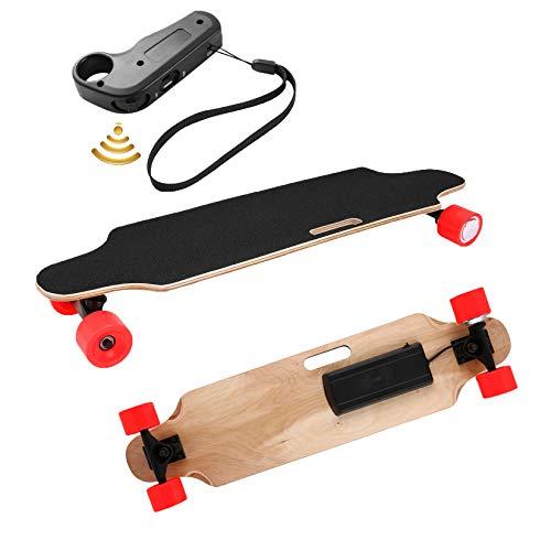 Aceshin Electric Skateboard Longboard with Wireless Handheld Remote Control 350W Single-Motor Power 8 Layers Maple Longboard Skateboard Cruiser for Teens Adults (Red)