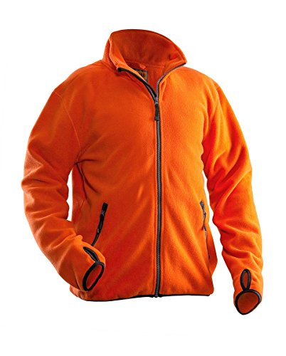 Jobman 550175-3000-7 Fleece Jacke in orange Größe XL