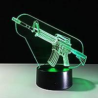 3D銃LedテーブルライトタッチスイッチナイトライトランプリモートコントロールとBluetoothスピーカーオプションギフト銃Ledランプ