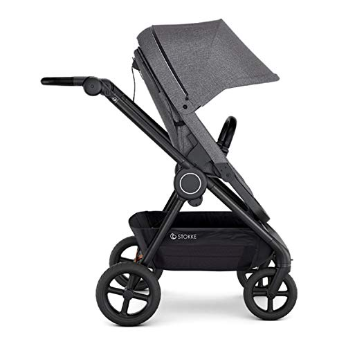 Great Features Of Stokke Beat Compact Urban Infant Baby Stroller Travel System (Black Melange)
