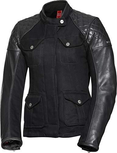 IXS Motorradjacke mit Protektoren Motorrad Jacke Damen Leder-/Textiljacke Jenny schwarz 44, Chopper/Cruiser, Ganzjährig, Leder/Textil