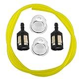 Manguera de tubo de combustible de gasolina de 2 pies con filtro de combustible para el kit de cadena de imprimación apto para Ryobi cortadora de césped cortadora de setos